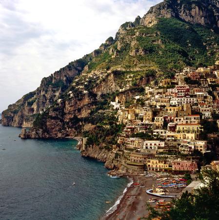 positano: Positano on Amalfi Coast, Italy