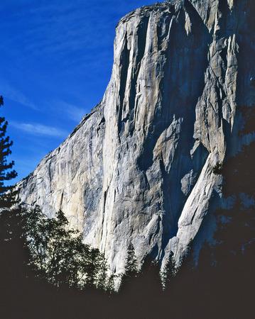 monolith: El Capitan in Yosemite National Park, California Stock Photo