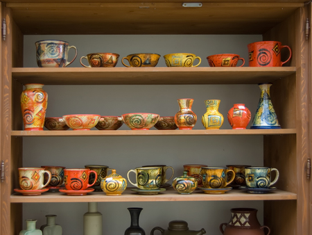 Ceramics on sale in open air market