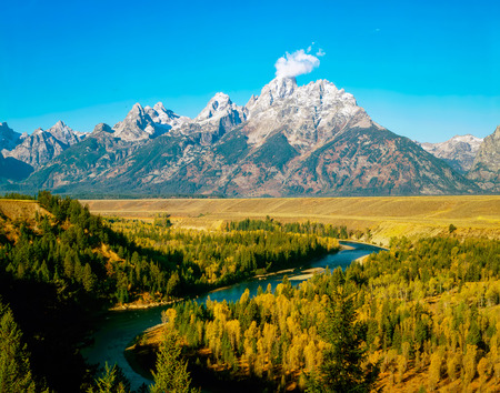 wyoming: Grand Teton and Snake River in Wyoming
