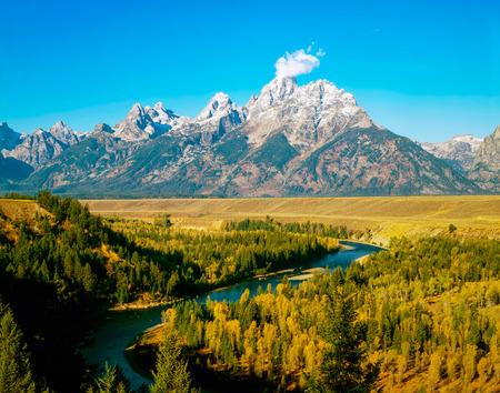 teton: Grand Teton and Snake River in Wyoming