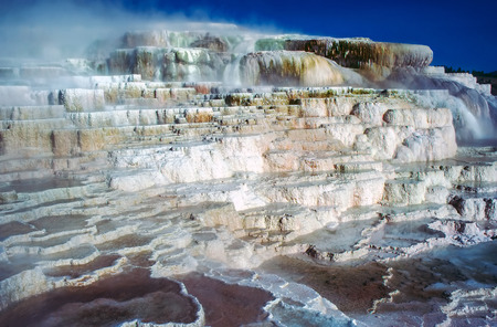 minerva: Minerva Terrace in Mammoth Hot Springs, Wyoming