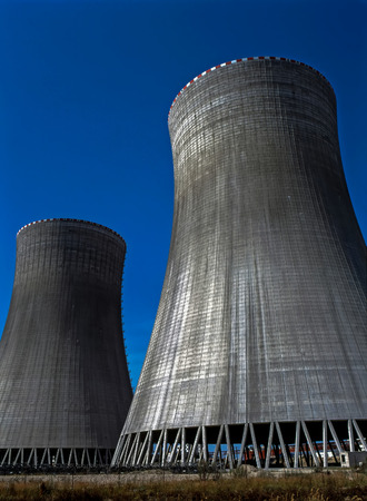 temelin: Cooling Towers of Nuclear Power Plant in  Temelin, Czech Republic