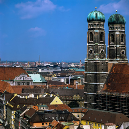 frauenkirche: Church Frauenkirche in Munich, Germany