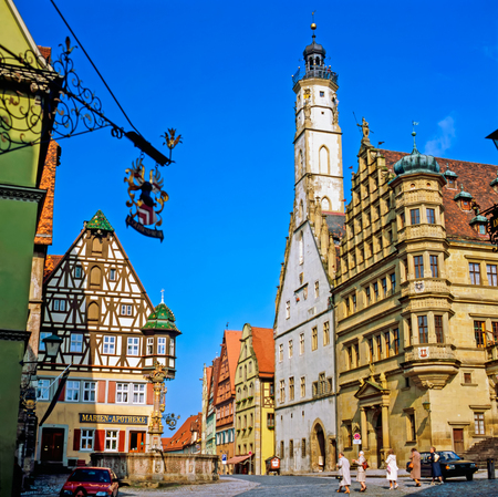 town hall: Town Hall in Rothenburg, Germany Stock Photo