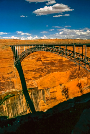 glen: Bridge over Glen Canyon Stock Photo
