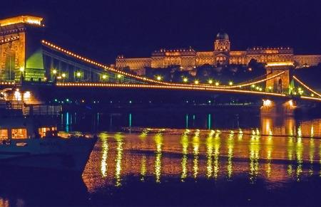 Royal Palace: Chain Bridge and Royal Palace, Budapest, Hungary