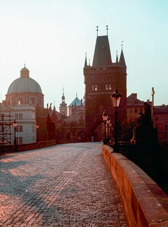 charles bridge: Sunrise at Charles Bridge, Prague