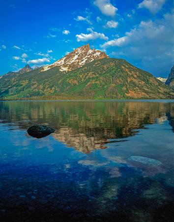 jenny: Jenny Lake in Grand Teton, Wyoming Stock Photo