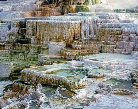 Minerva Terrace in Mammoth Hot Springs