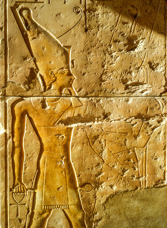 Relief at temple in Egypt