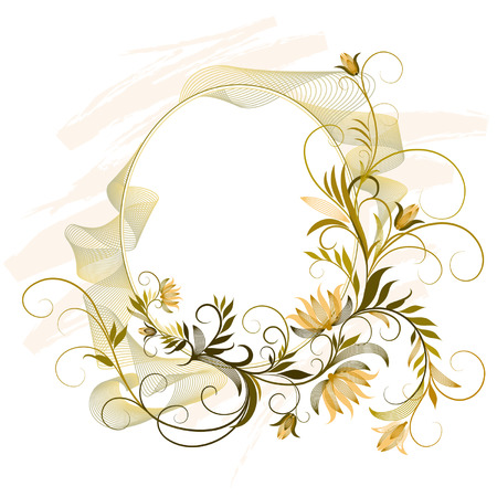 Floral Ornament Label