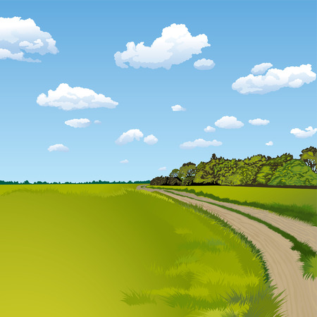 Rural Landscape Stock Vector - 3536072