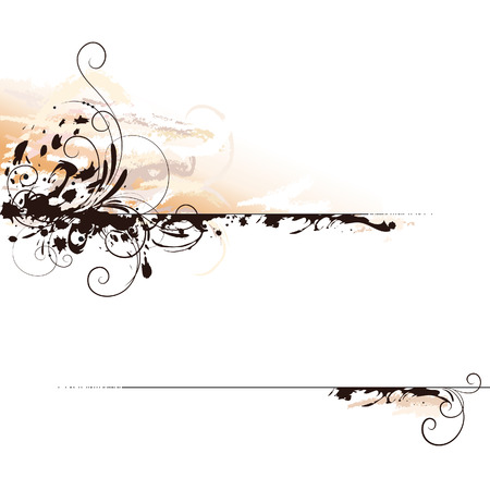 Abstract Ink Calligraphy Background