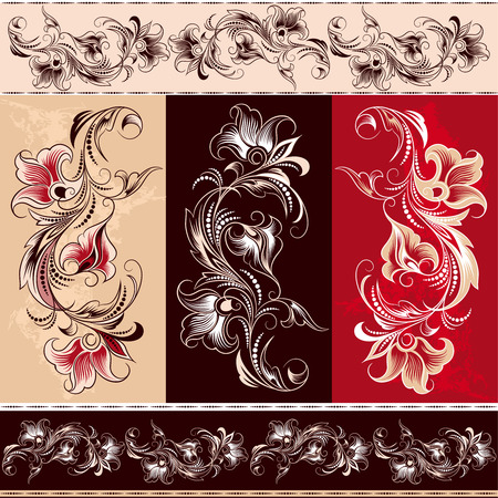 Decorative Floral Ornament Elements