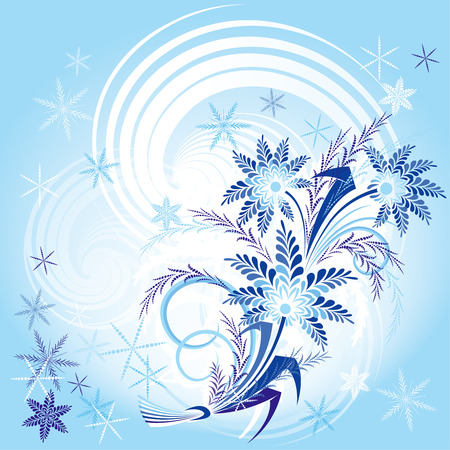 Bouqet Of Winter Flowers Stock Vector - 3609396