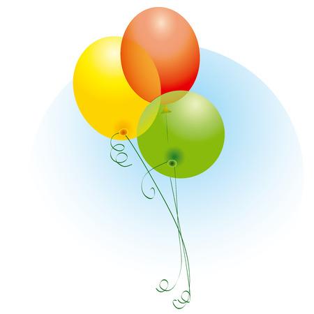 Colorful Ballons Illusztráció
