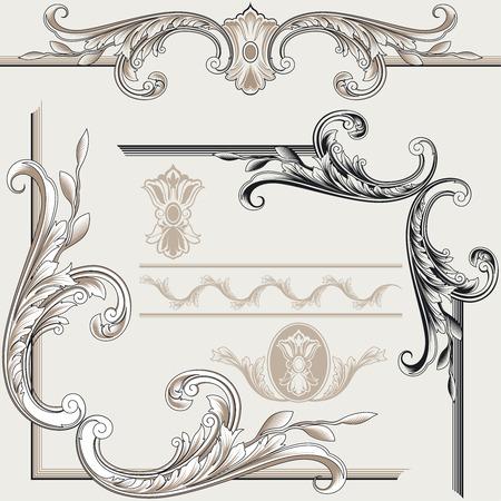 Classic Decor Elementen Stock Illustratie