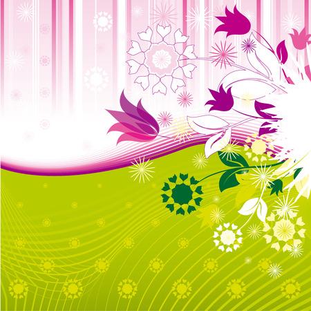 Abstract Bloemen Patroon Stock Illustratie