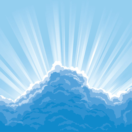 Sun Behind Clouds Vector