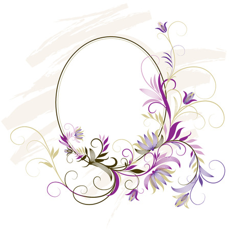 lush foliage: Decorative Frame With Floral Ornament