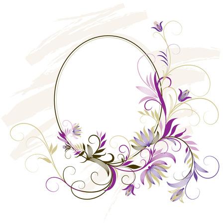 elipsy: Ozdobna ramkę Z Floral Ozdoba