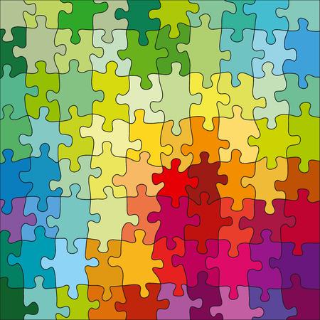 Color Jigsaw Puzzle Vecteurs