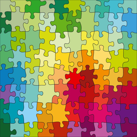 Kleur Jigsaw Puzzle Stock Illustratie