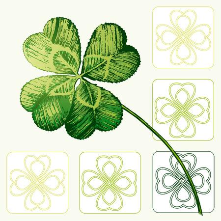 four fourleaf: Quattro foglie Cloverleaf, Shamrock