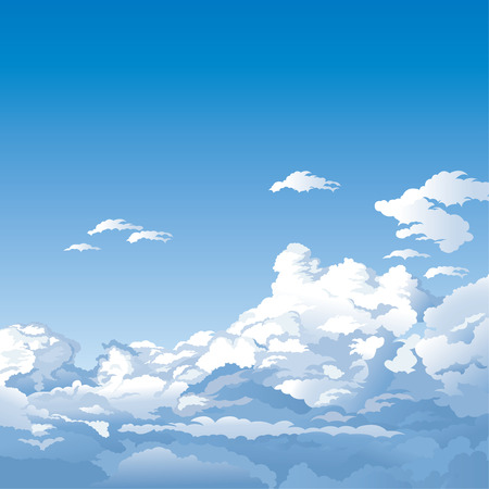 skies: Sky With Clouds Illustration