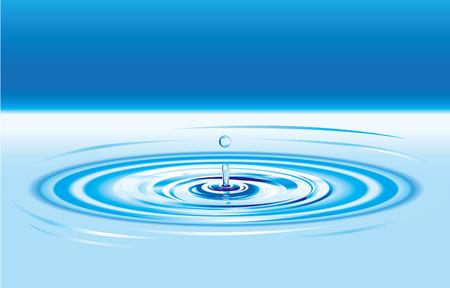 purified water: Azul gota de agua salpicadura