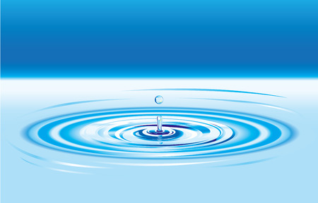 Blue Water Drop Splash