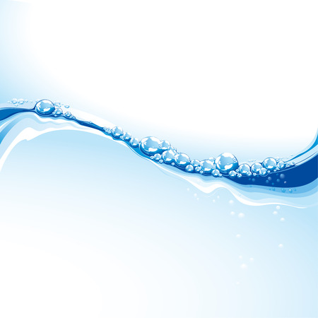 Clear Water Wave With Bubbles