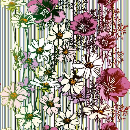 Naadloze Flower Pattern Stock Illustratie