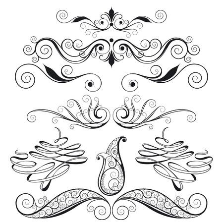 disegno cachemire: Floral Design Elementi decorativi Vettoriali
