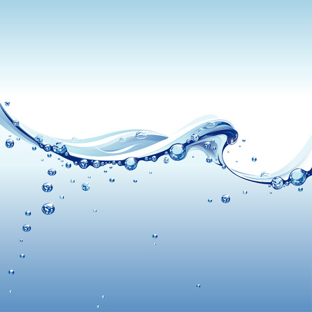 Water Wave With Bubbles Stock Vector - 4610280