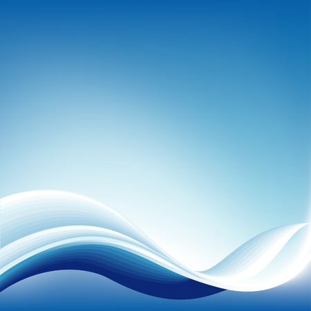 Abstract Blue Wave Achtergrond, editable vector illustration Stock Illustratie