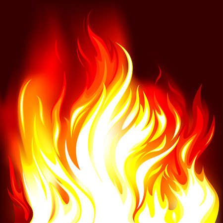 Fire Flames Background, editable vector illustration Stock Vector - 4770168