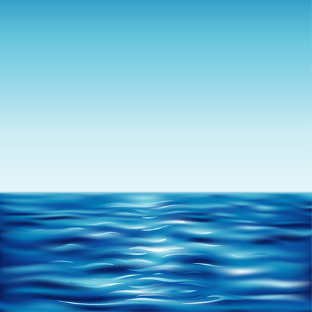 horizon reflection: Blue Sea And Clear Sky