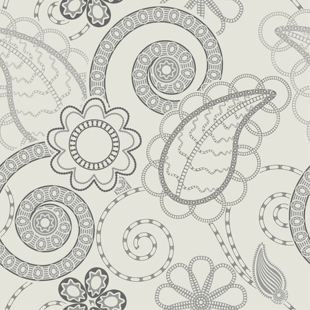 Seamless floral pattern background  Illusztráció