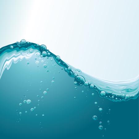 Water Wave met Bubbles