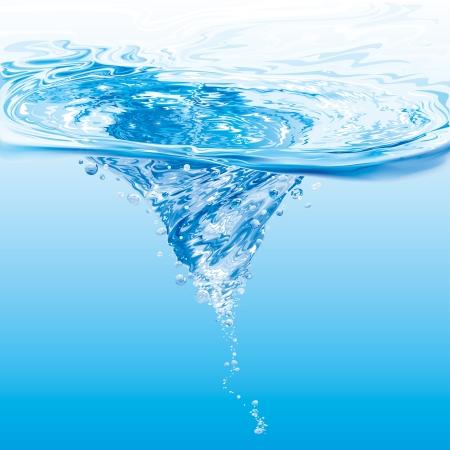 水の渦  イラスト・ベクター素材