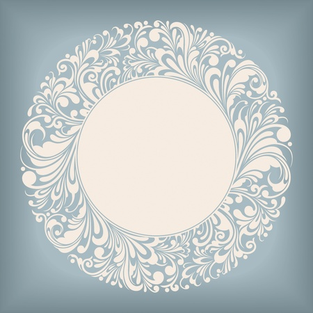 Ornament Circle Label Series Vector