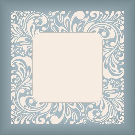 Ornament Square Label Series Vector