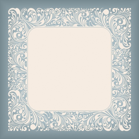 Ornament Square Label Series Vector