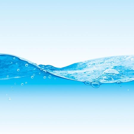 turquesa: El agua de fondo de onda Con Burbujas Vectores