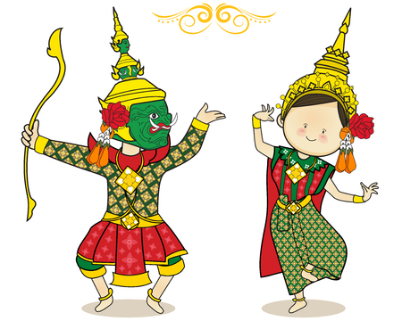Arte cultura Danza thailandese carina