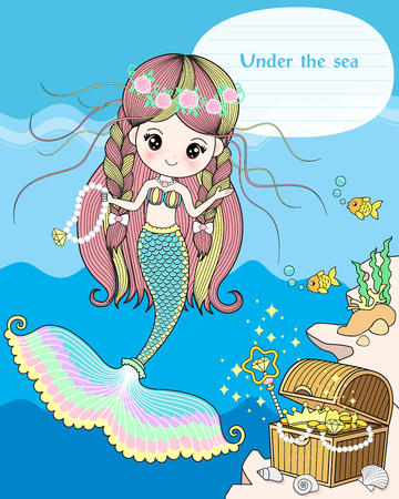 The mermaid treasure under the sea