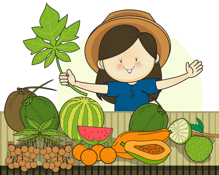 Produce shop keeper. Fruit retail
