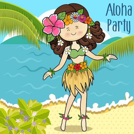 Hawaiian hula dancer